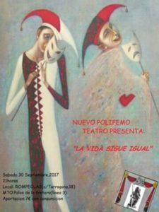 Teatro: La vida sigue igual. Con Nuevo Polifemo @ Rompeolas locales y aulas | Madrid | Comunidad de Madrid | España