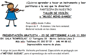 Taller de Violín y Music Mind Games @ Rompeolas Locales y Aulas de Ensayo | Madrid | Comunidad de Madrid | España