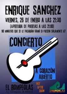 Enrique Sánchez en concierto @ Rompeolas Locales y Aulas de ensayo | Madrid | Comunidad de Madrid | España