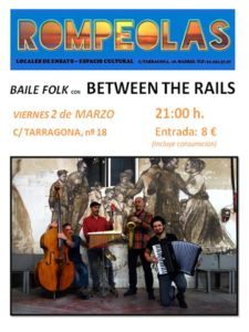 Baile Folk con BETWEEN THE RAILS @ Rompeolas Locales y Aulas de ensayo | Madrid | Comunidad de Madrid | España