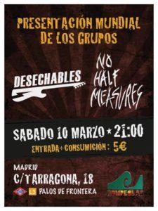 DESECHABLES + No half measures @ Rompeolas locales | Madrid | Comunidad de Madrid | España