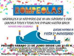 FIESTA III ANIVERSARIO @ Rompeolas Locales | Madrid | Comunidad de Madrid | España