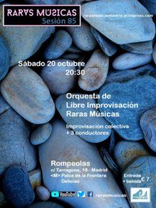 Orquesta RARAS MÚSICAS: música creativa e improvisación colectiva @ Rompeolas Locales | Madrid | Comunidad de Madrid | España