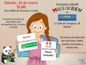 Concierto infantil-familiar con MUSIKBEN @ Rompeolas Locales y Aulas de ensayo | Madrid | Comunidad de Madrid | España