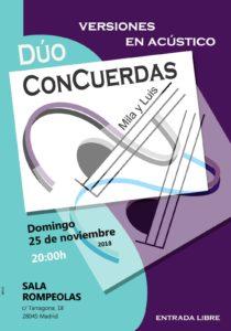 Dúo ConCuerdas...Mila y Luis en acústico en Rompeolas... @ Rompeolas Locales | Madrid | Comunidad de Madrid | España