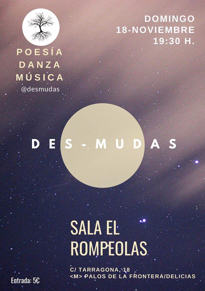 DES-MUDAS: Energía, creación y arte. @ Rompeolas Locales | Madrid | Comunidad de Madrid | España