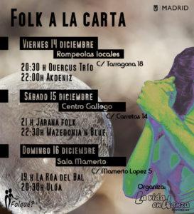 "FESTIVAL ""FOLK A LA CARTA"" @ Rompeolas Locales"