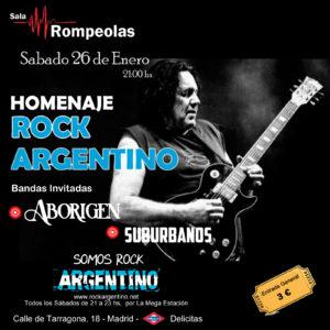 Concierto Homenaje Rock Argentino @ Rompeolas Locales