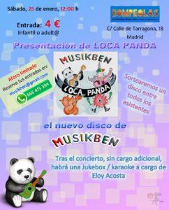 MUSIKBEN: presentando nuevo disco LOCA PANDA!!!... y JukeBox con Eloy Acosta...karaoke con música en vivo. @ Rompeolas Locales