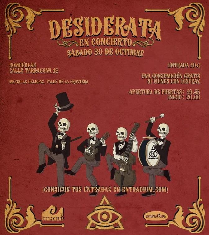 DESIDERATA en concierto: Halloween edition! @ Rompeolas Locales